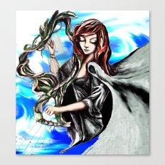 Harpist Canvas Print