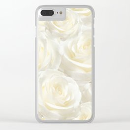 Ivory Roses Clear iPhone Case