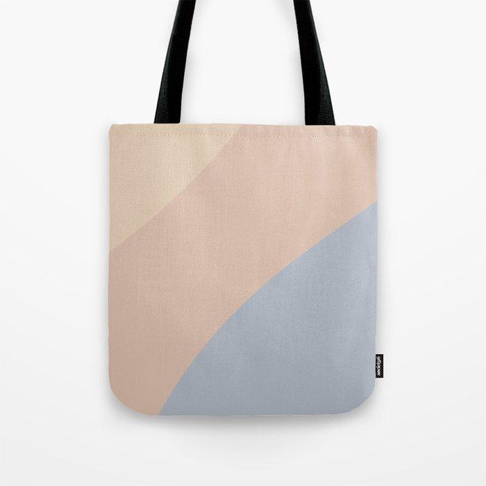 Neutral Blue Color Wave Tote Bag