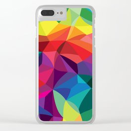 Color Shards Clear iPhone Case