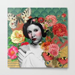 Blooming Leia Metal Print