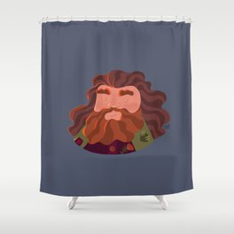 Hagrid hairstyle Shower Curtain