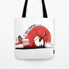 .: Fox - I Hate Mondays :. Tote Bag
