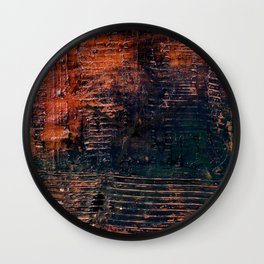 Hollow (Navy/Red Abstract) Wall Clock
