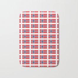 flag of norway,snow,scandinavia,scandinavian, norwegian,oslo Bath Mat