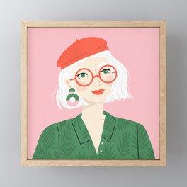The Girl in the Red Beret Framed Mini Art Print