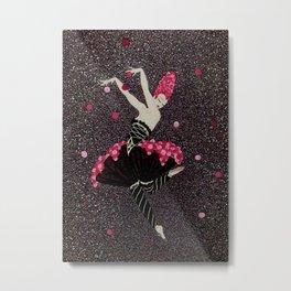 "Art Deco Design ""Rose Dance"" by Erté Metal Print"