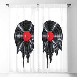 Melting vinyl / 3D render of vinyl record melting Blackout Curtain