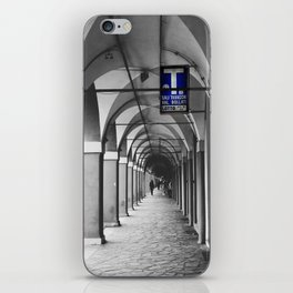 Blue Tabacchi Street Photography in Bologna iPhone Skin
