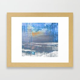 Blue Color Patches Framed Art Print