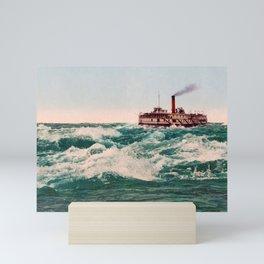 Steamboat Lachine Rapids Near Montreal - Circa 1901 Photochrom Mini Art Print