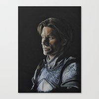 lannister Canvas Prints featuring Jaime Lannister by HevArtScenic