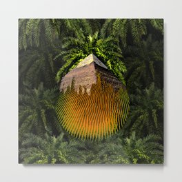Palm Pyramid Desert Spirit Metal Print