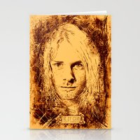 kurt cobain Stationery Cards featuring 27 Club - Cobain by MUSENYO