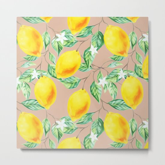 Lemon Fresh #society6 #decor #buyart Metal Print