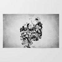 jack skellington Area & Throw Rugs featuring Jack Skellington by bimorecreative