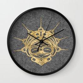 Gold Frog Smoke Wall Clock