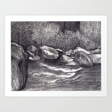 Black and White 7 Art Print