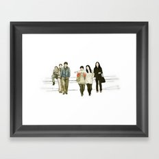 street crossing Framed Art Print