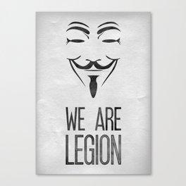 We Are Legion Canvas Print