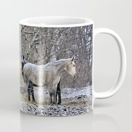 Feeding in The Snow Coffee Mug
