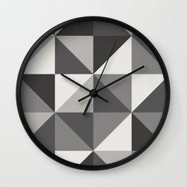 Modern Shades of Grey Wall Clock