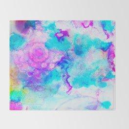 pastel mandala vi Throw Blanket