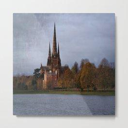 Autumn Lichfield Cathedral Metal Print