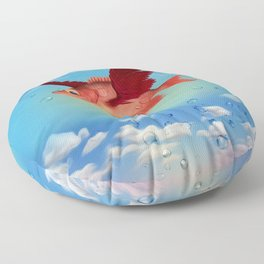 The flying fish and drew drops Floor Pillow