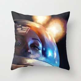 Spacewalker Throw Pillow