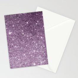 Stylish lavender lilac modern glitter gradient Stationery Cards