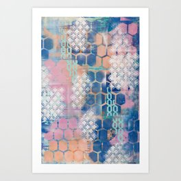 honeycomb and lace Art Print