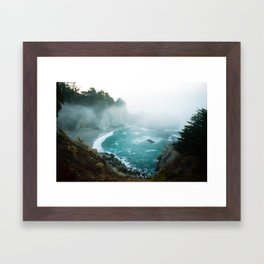 sunrise in big sur Framed Art Print