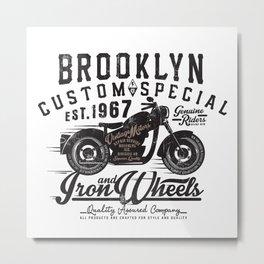 Motorcycle Brooklyne  Clasic Motorcycle Metal Print