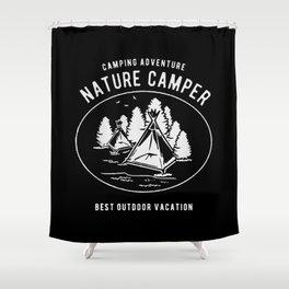 camping adventure nature camper Shower Curtain