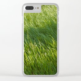 Waves of Grass Clear iPhone Case