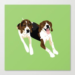 Maggie and Lucy Canvas Print