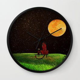 Calvin and Tiger Wall Clock