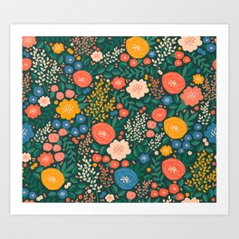 Flower Shop Art Print