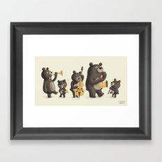 Bear Music Framed Art Print