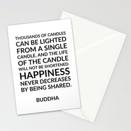 Thousands of candles - Buddha quote on happiness Stationery Cards