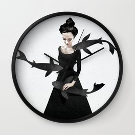 News from afar Wall Clock