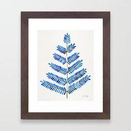Blue Leaflets Framed Art Print
