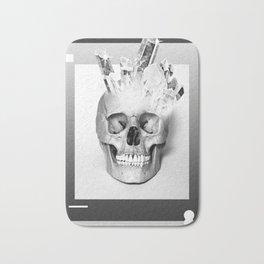 Quartz skull Bath Mat