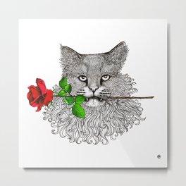 Valentine's Cat Metal Print