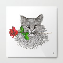 Valentine's Cat Metal Print