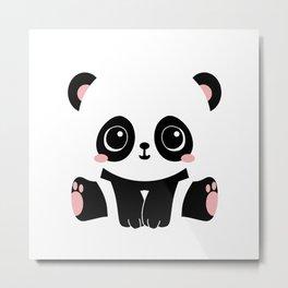 Cute Baby Panda Metal Print