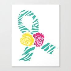 Endometriosis Ribbon 3 Canvas Print