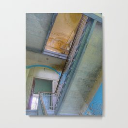 Lost Places _771, Beelitz Heilstaetten stairs Metal Print