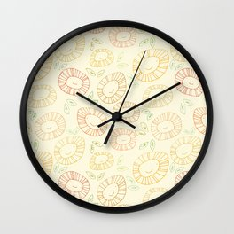 smiley flowers Wall Clock
